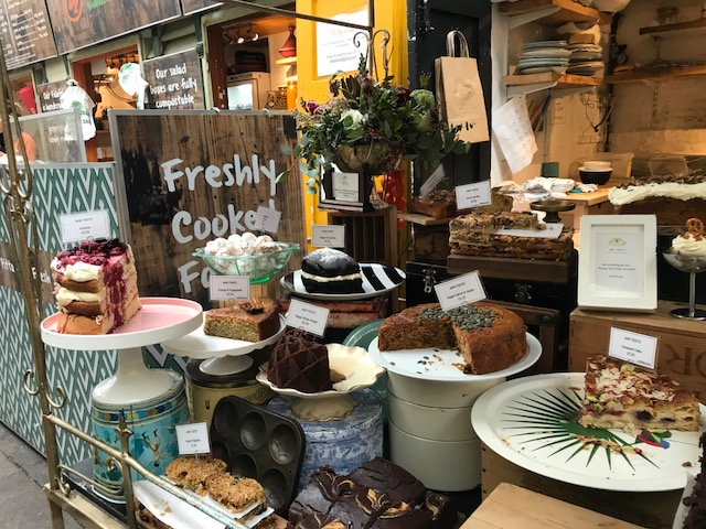 for the love of hygge, picture of the cake stand at Ahh Toots in Bristol. Visiting for a wedding cake tasting